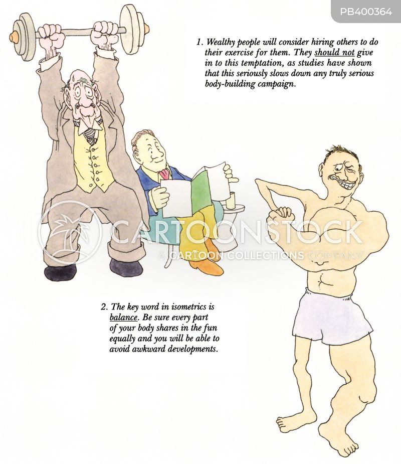 fitness instruction cartoon