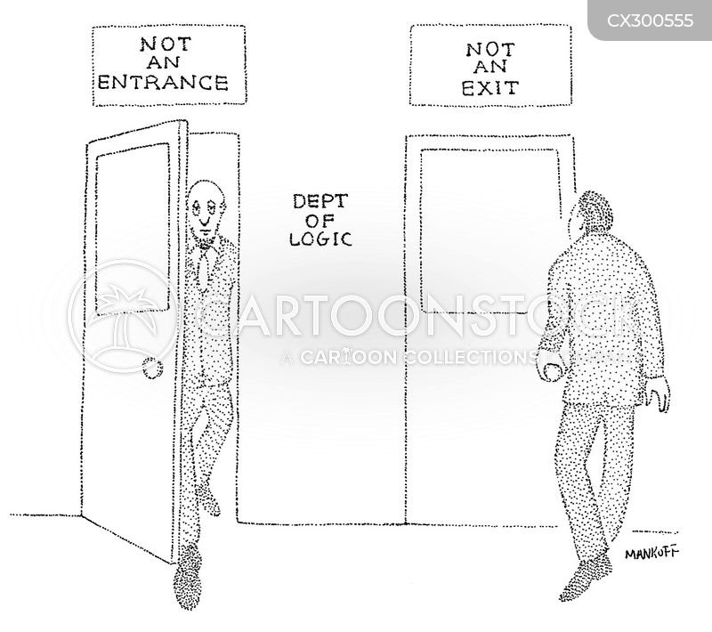 exit doors cartoon