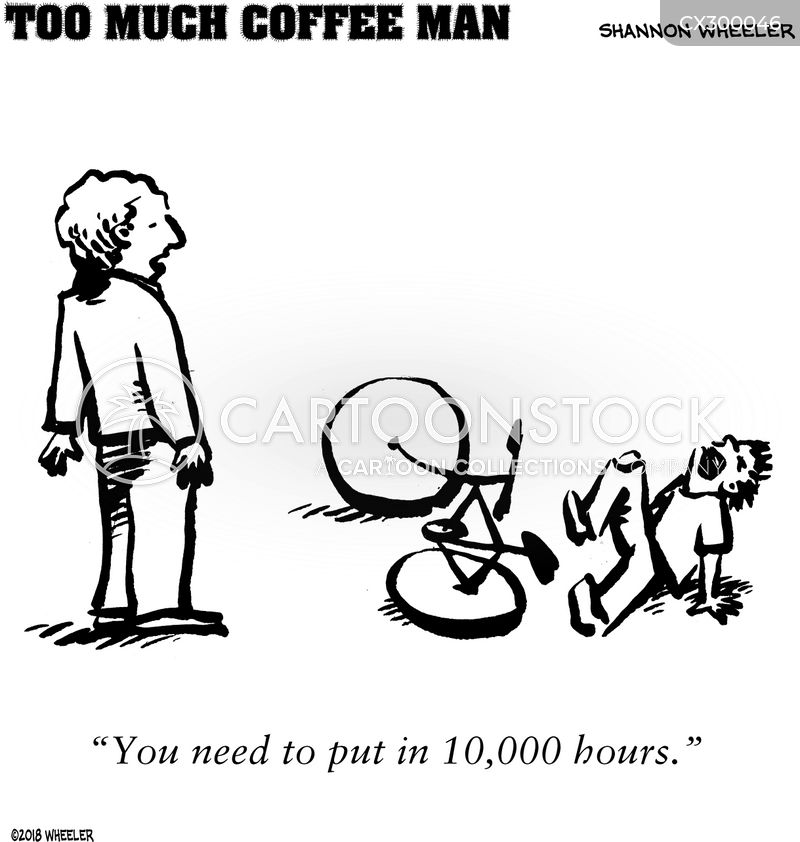 too much coffee man cartoon