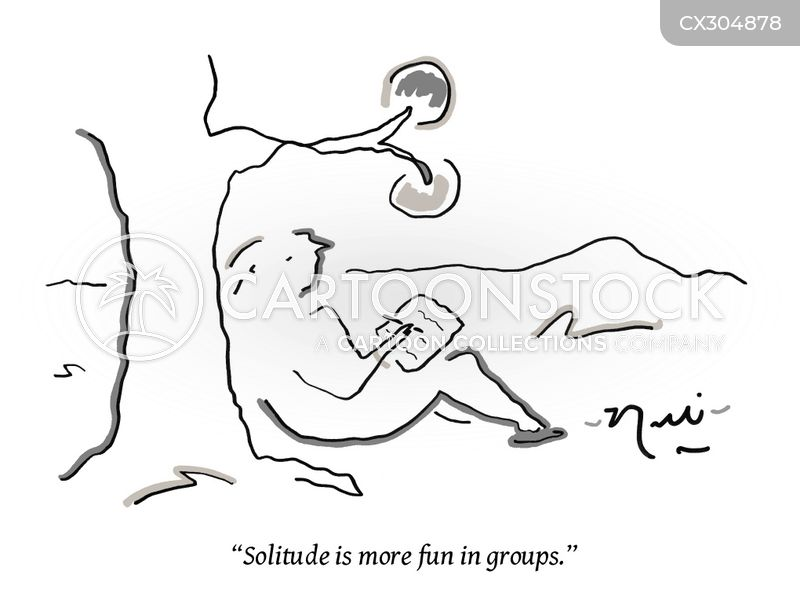 solitude cartoon