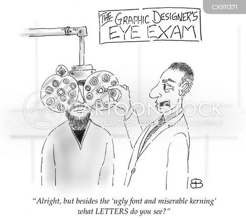 eye exam cartoon