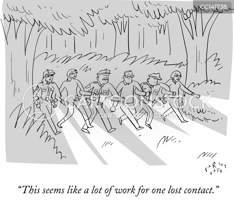 contacts cartoon