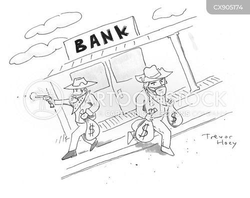 bank robbery cartoon