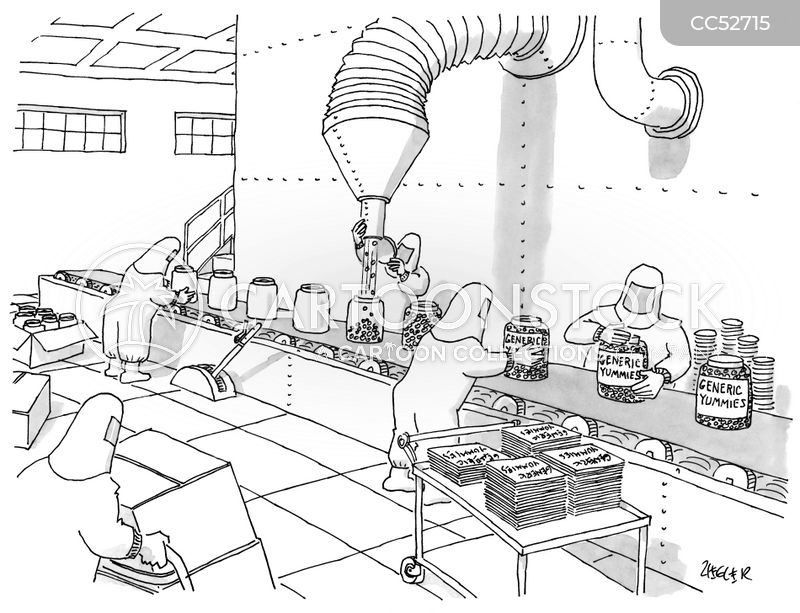production lines cartoon