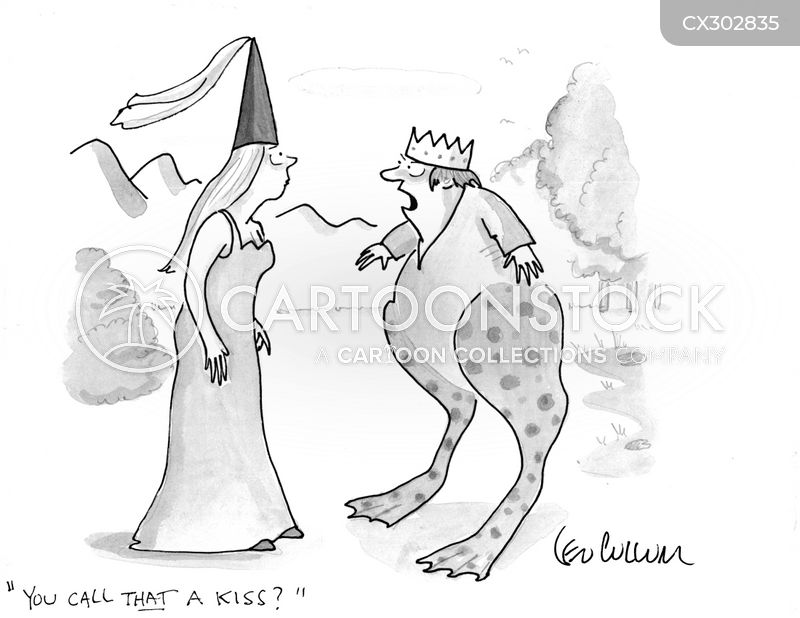 Kissing cartoon