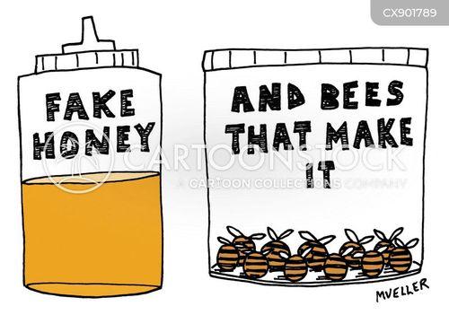 honey bees cartoon
