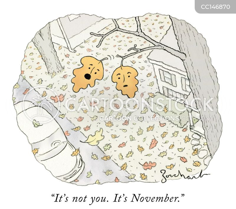 fall leaves cartoon