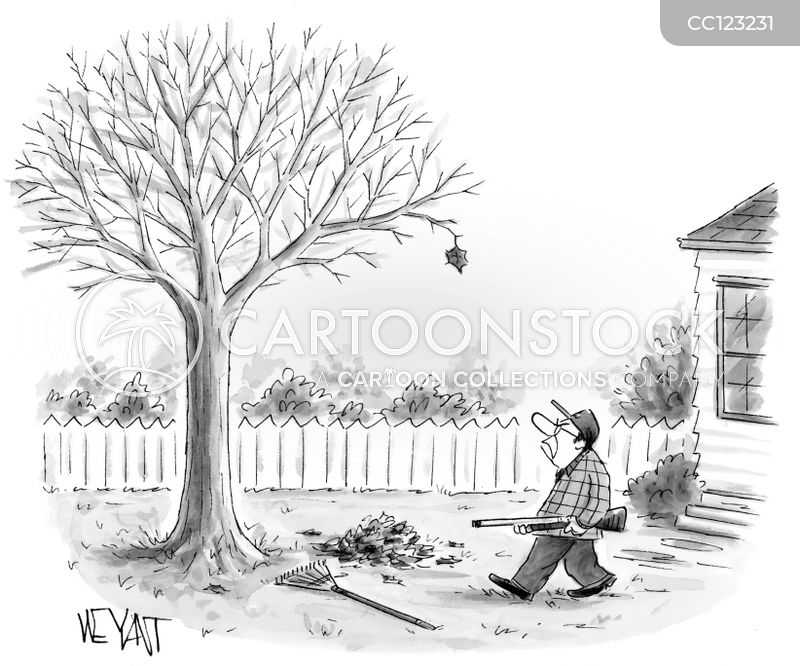 Yardwork cartoon