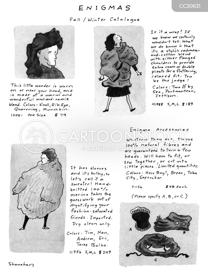 Clothes Catalogues cartoon