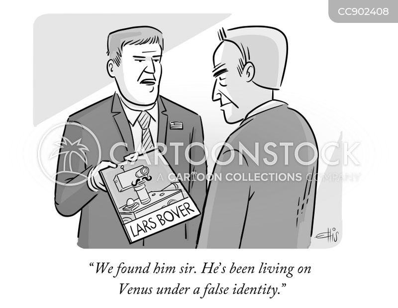 fake identity cartoon
