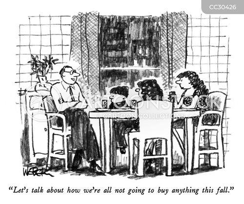 shopaholic cartoon