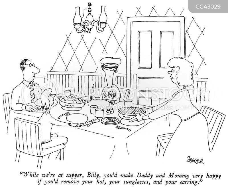 family meals cartoon
