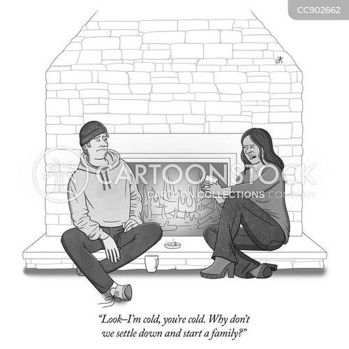 settling cartoon