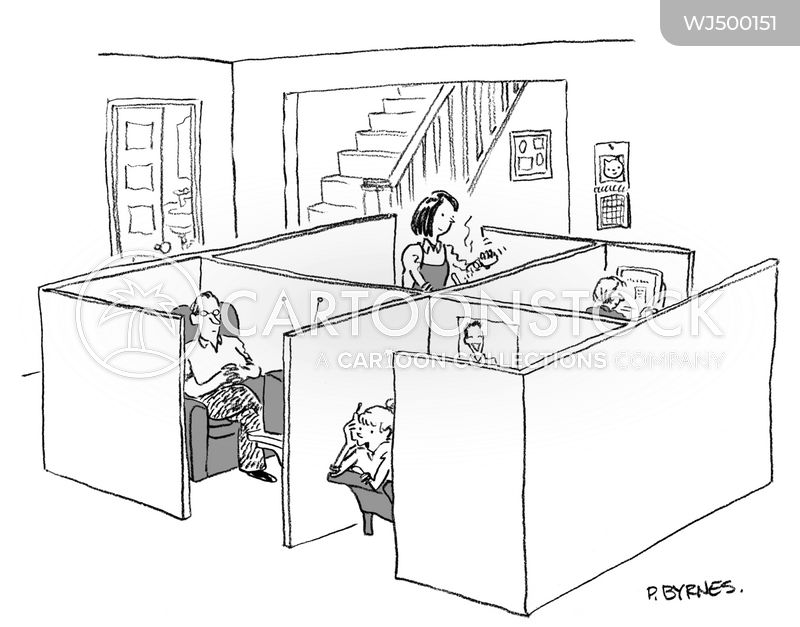 office cubicles cartoon