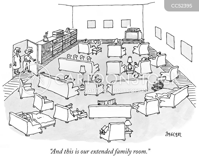 extended family cartoon