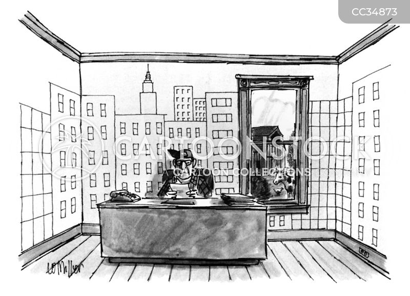 city scape cartoon