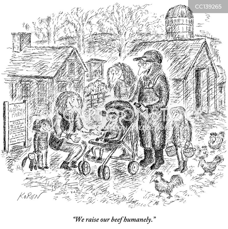 humane farming cartoon