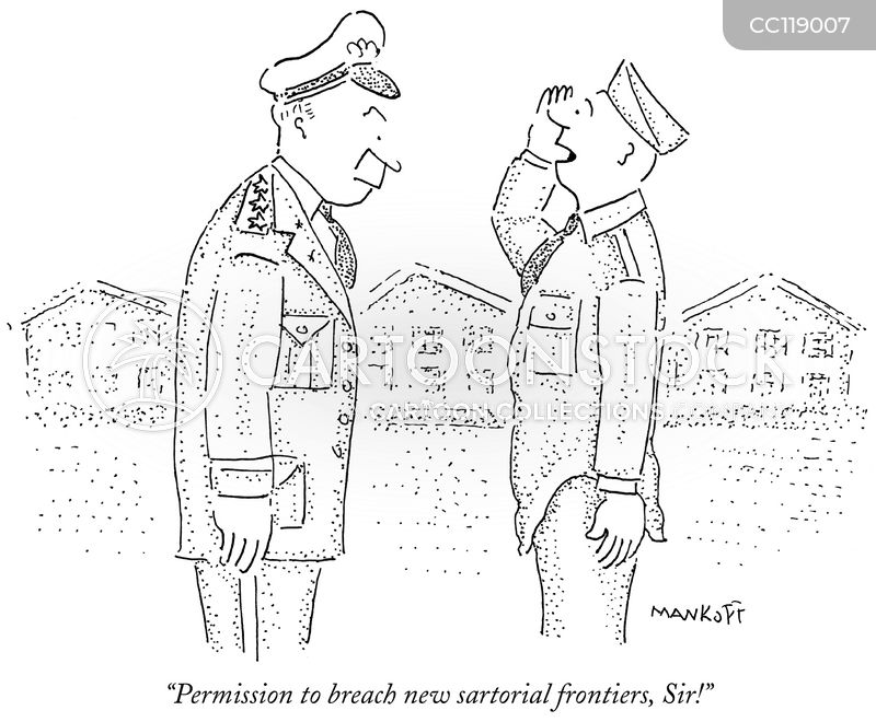 military officer cartoon