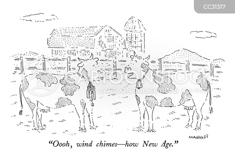 wind chimes cartoon