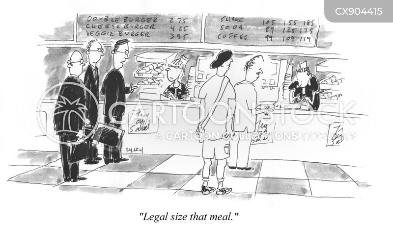 fast food cartoon