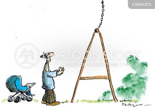 swinging cartoon