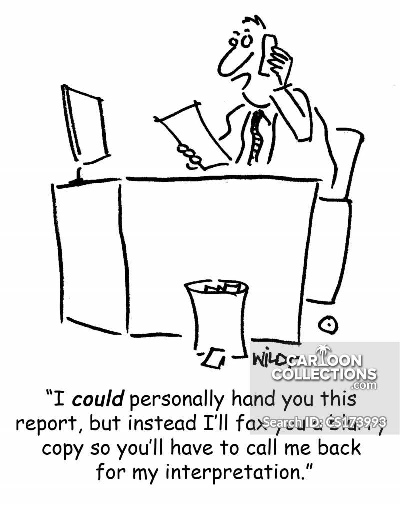 written reports cartoon