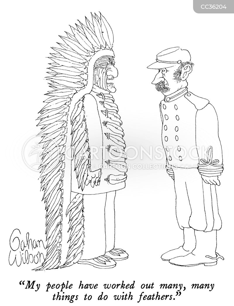 tribal leader cartoon