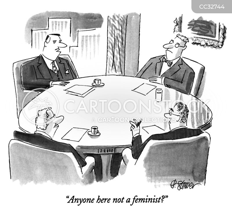 glass ceilings cartoon