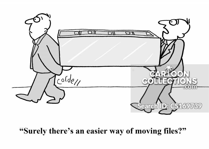 transferring files cartoon