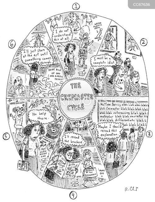 visual arts cartoon