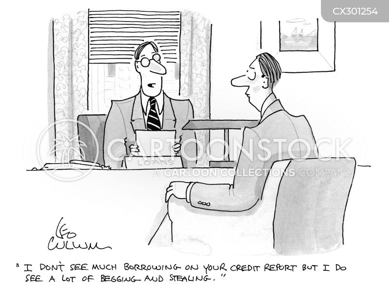 credit reports cartoon