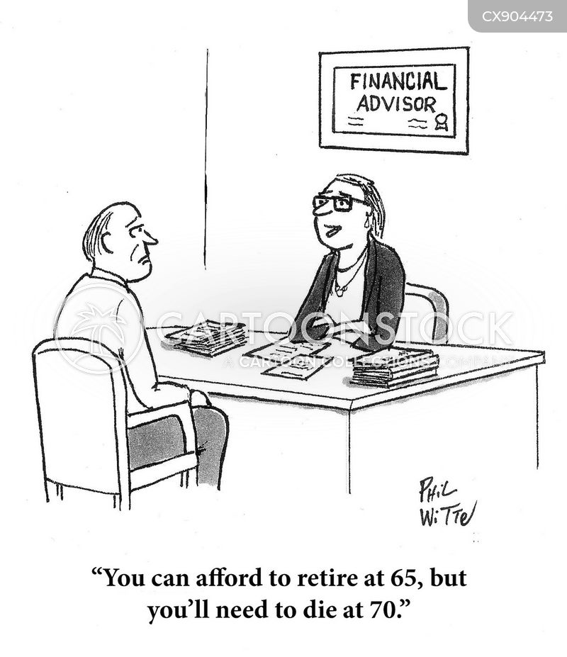 retirement age cartoon