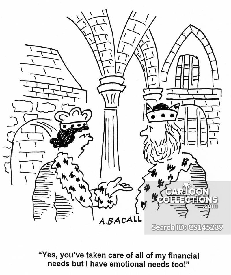 wealthy husbands cartoon