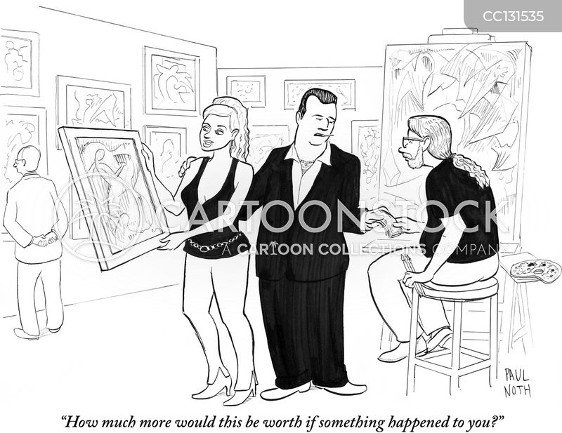 art market cartoon