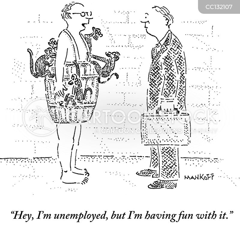 out of work cartoon