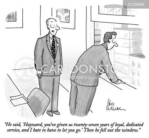 dismissal cartoon