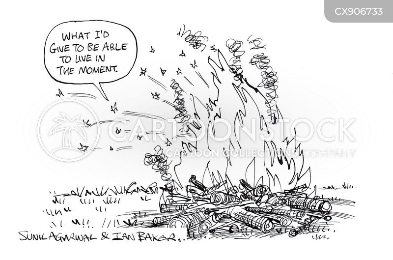live in the moment cartoon