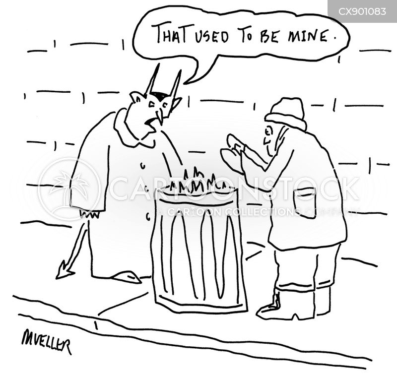 trash can cartoon