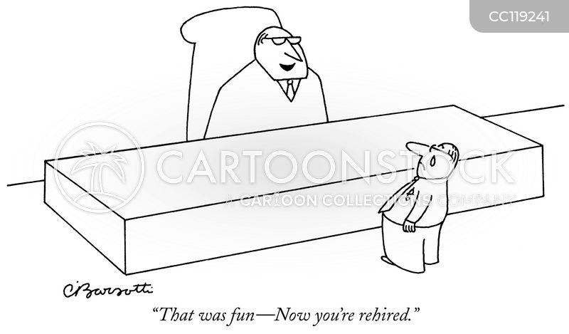 rehired cartoon