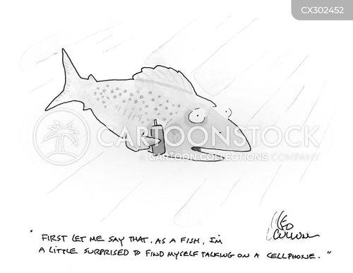 talking fish cartoon
