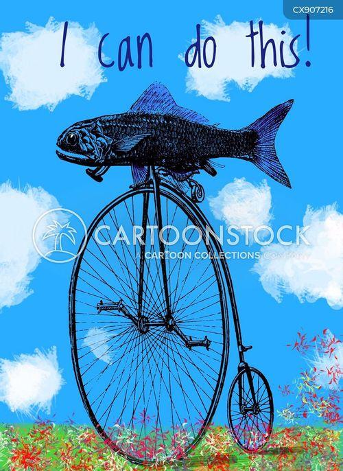 bicycles cartoon