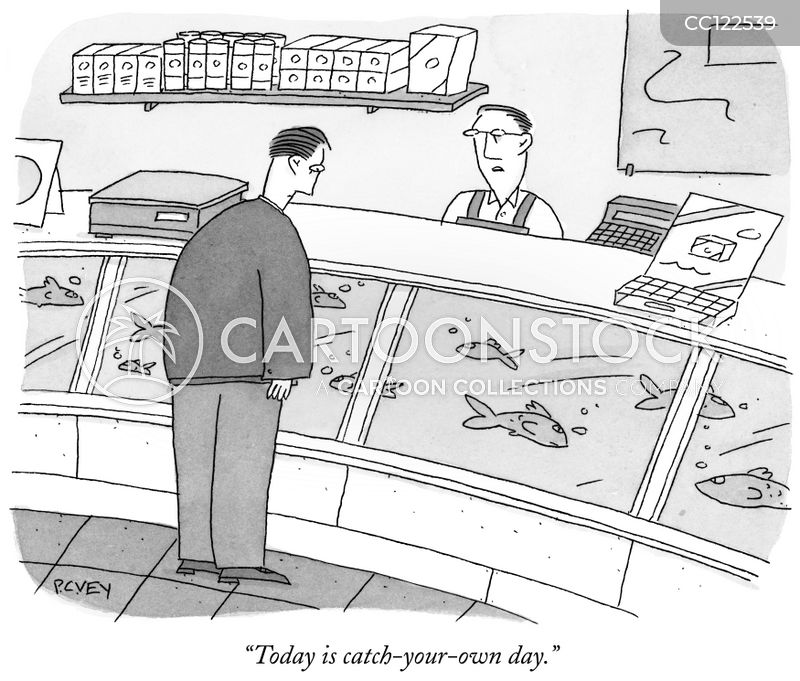 food stores cartoon