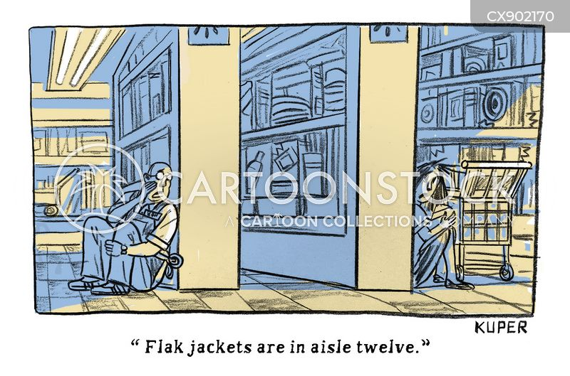 flak jacket cartoon