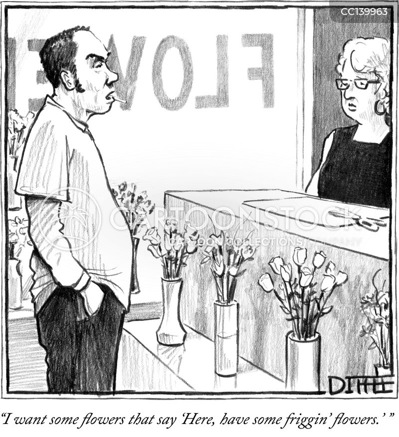 romantic gestures cartoon