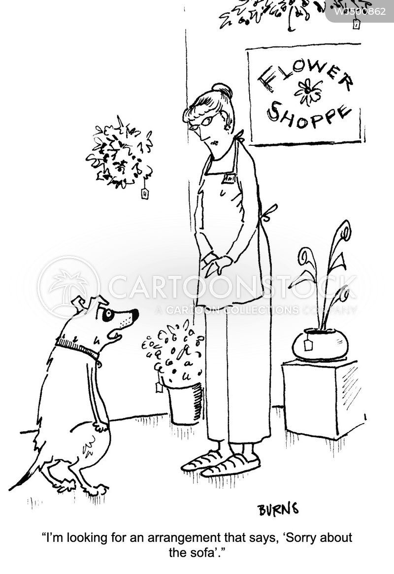 flower shop cartoon