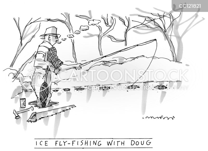 ice fishes cartoon