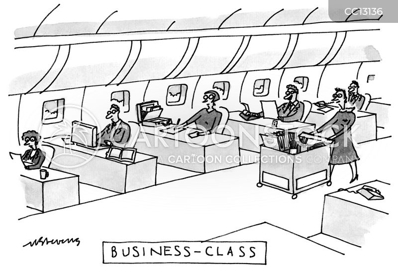 business trips cartoon