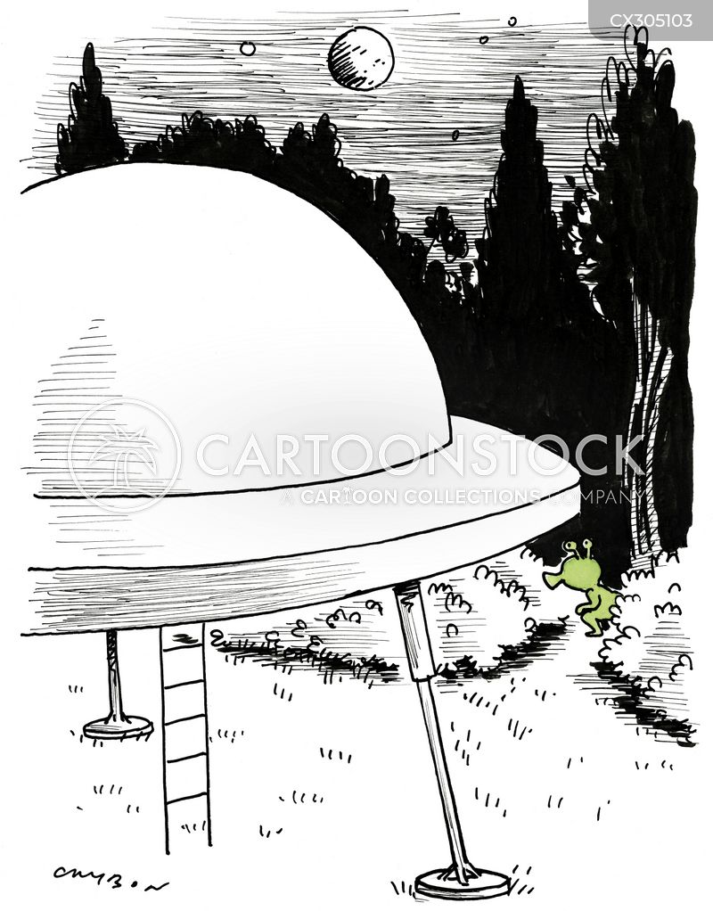 flying saucers cartoon