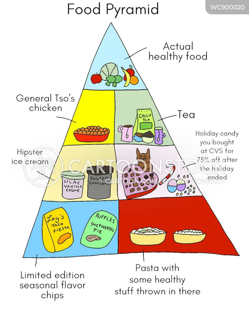 food pyramid cartoon