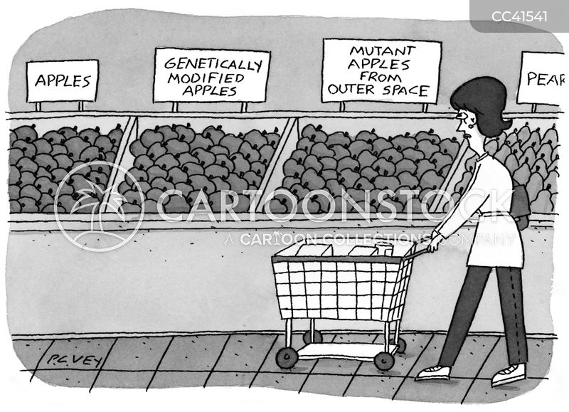 grocery shopping cartoon